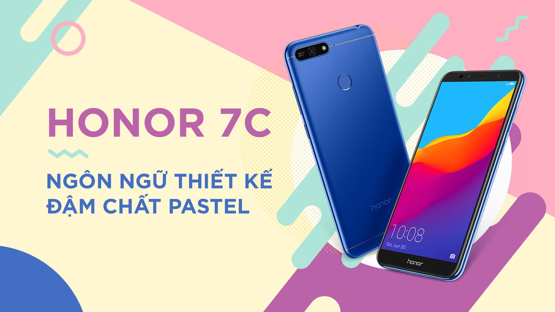 Honor 7C: Ngon ngu thiết kế dam chat pastel hinh anh 2